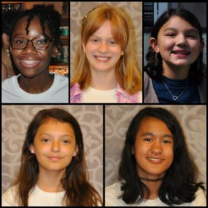 Aubrey Heiges, Makayla Wright, Nadia Lessing, Sarah Ford, and Valerie Swing